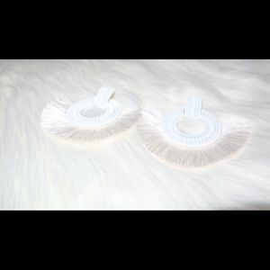 Jewelry - White feather earrings